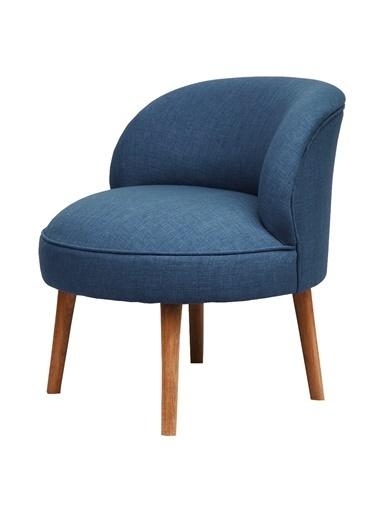Ze10 Design Nice Tekli Koltuk Gece Mavisi Mavi
